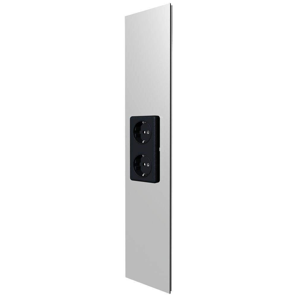 kabelkanal abdeckung 50cm mit 2x steckdose. Black Bedroom Furniture Sets. Home Design Ideas