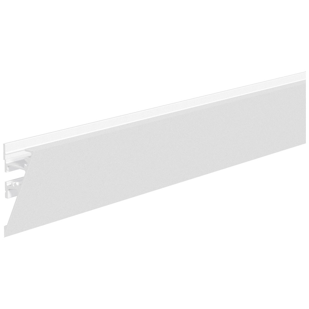 wand profil schr g aluminium profil 200cm wei pulverbeschichtet. Black Bedroom Furniture Sets. Home Design Ideas