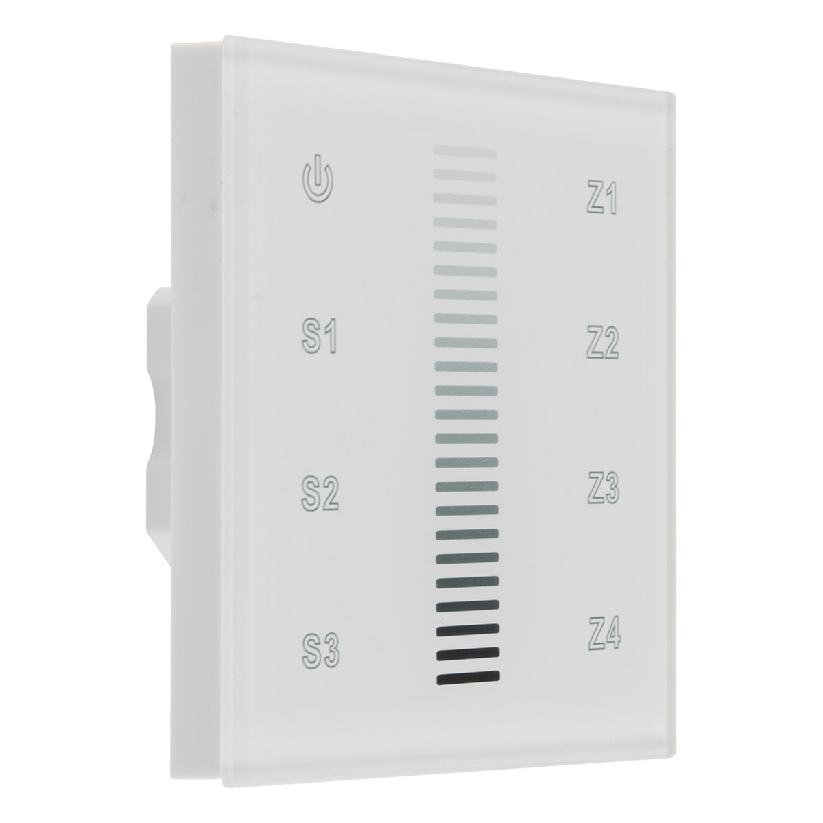 Funk dimmer wandpanel 4 kanal 868mhz touch bedienfeld for Koch 4 kanal funk dimmer