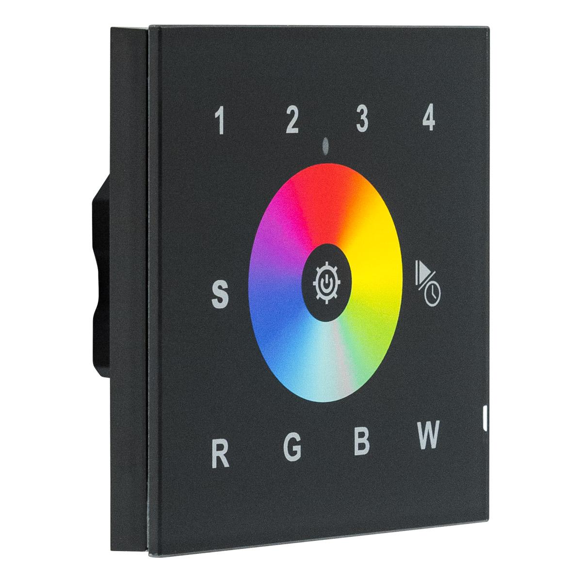 wifi wandpanel rgb w schwarz 230v ac. Black Bedroom Furniture Sets. Home Design Ideas